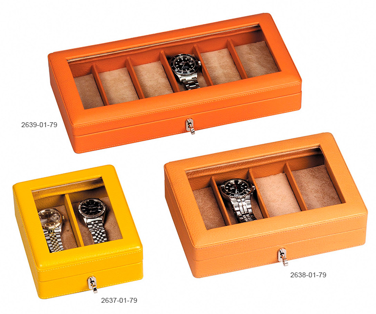Watches case with glass top