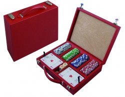 Poker case with handle